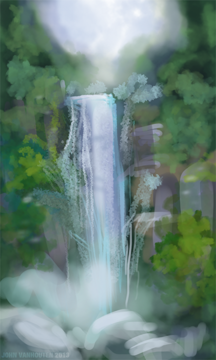 Waterfall Speed Painting