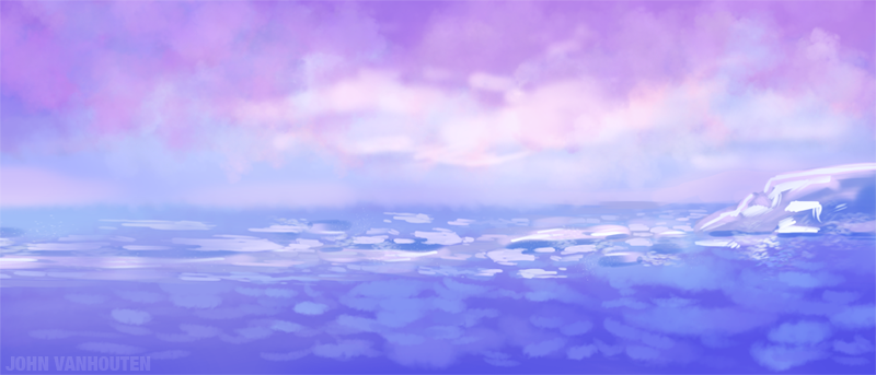 The antarctic speed painting was painted in Adobe Photoshop CS5