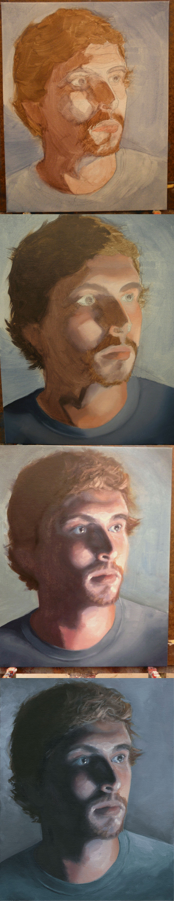 Portrait Painting Process