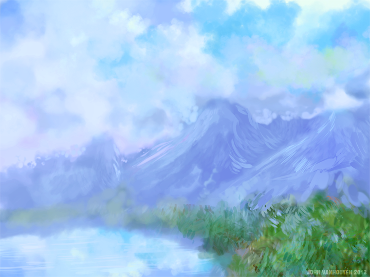 Mountain Range Speed Painting
