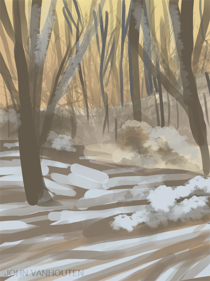 Winter Forest Speed Painting
