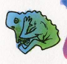 Cowering Baboon Creature