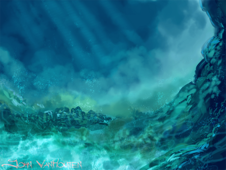 Underwater Speed Painting