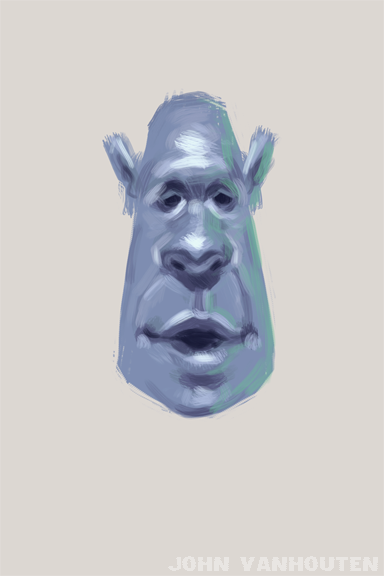 Blue Guy Speed Painting