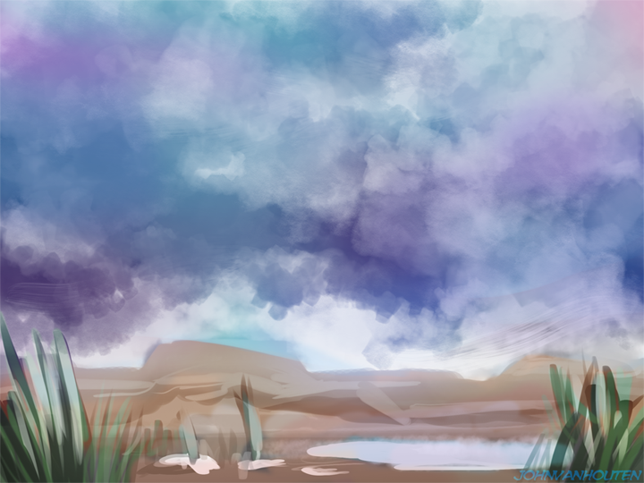 Desert Oasis Speed Painting