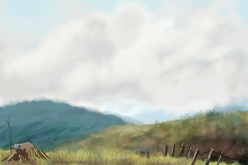 Grassy Hills Speed Painting
