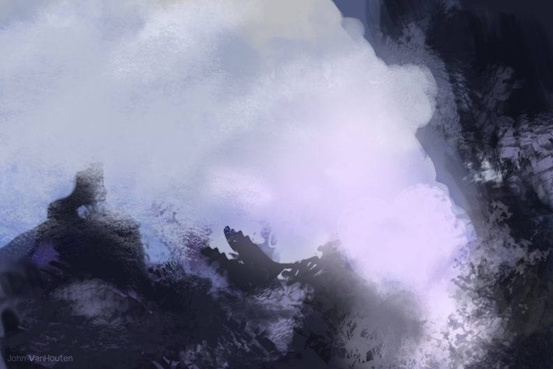 Abstract Gloomy Landscape Speed Painting