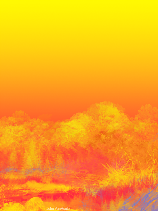 Yellow Orange Landscape Speed Painting