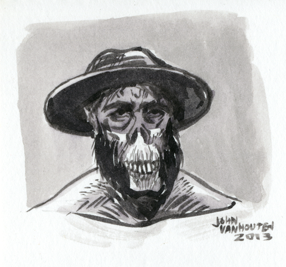 Ink-Wash-Guy-In-Hat