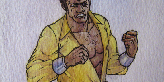 Luke Cage Watercolor