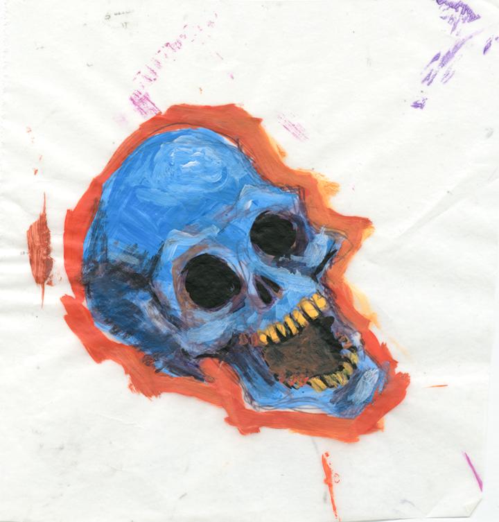 Acrylic Skull 4x5