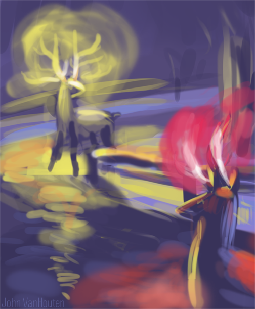 Glowing-antlers-speed-painting