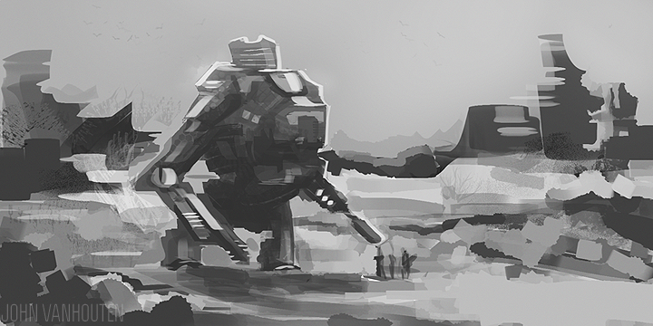 Mech Speed Painting