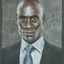 """Lance Reddick Caricature"" - Colored Pencil"