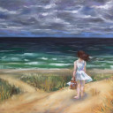 """At The Beach"" - Pastel"